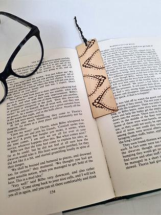 Plywood Bookmark - Dotty Petals Design