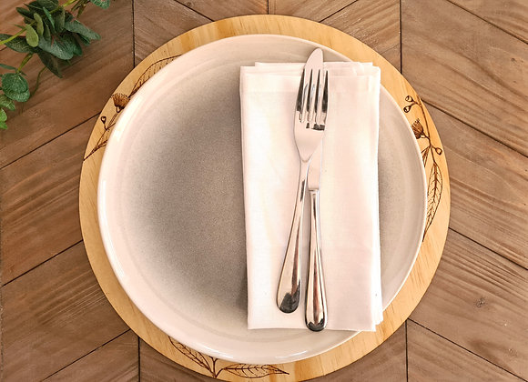 Round Ply Placemats Set of 4 -  Australian Native Design