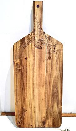 Large Rectangle Paddle Serving Board -  Australian Flora Design