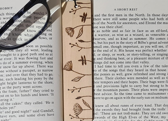 Plywood Bookmark - Wildflowers Design