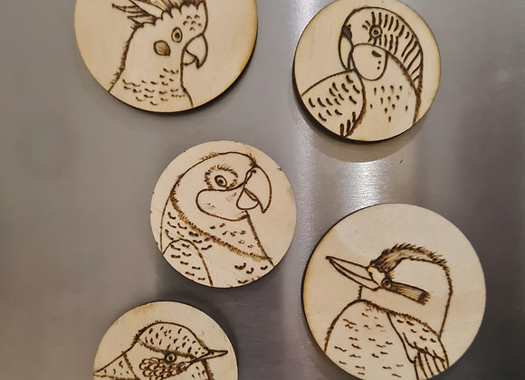 Magnet Set of 5 - Birds Collection