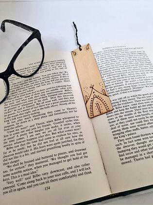 Plywood Bookmark - Passion Petal Design