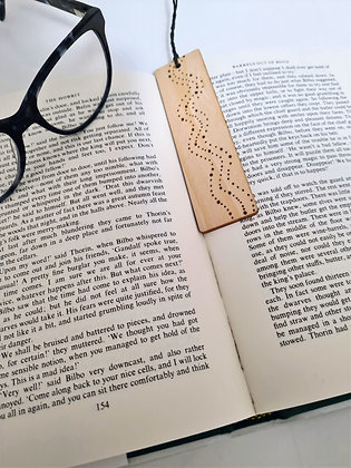 Plywood Bookmark - Dotty River Design