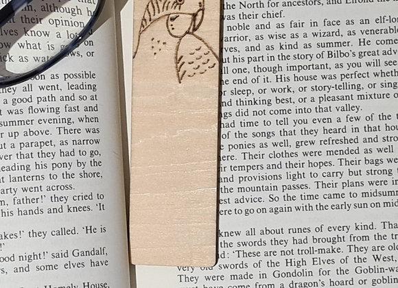 Plywood Bookmark - Budgie Design