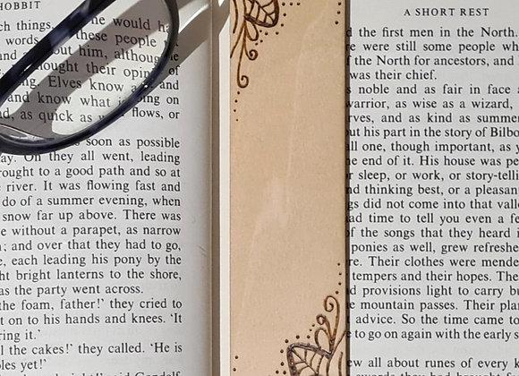 Plywood Bookmark - Filigree Corner Design