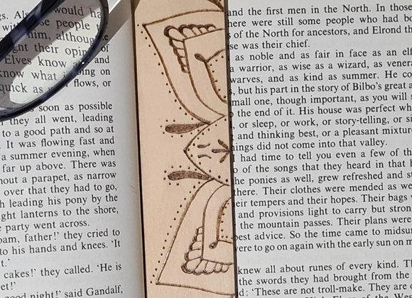 Plywood Bookmark - Mandala Butterfly Design