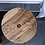 Thumbnail: Solid Acacia Stool - Olive Leaf Design
