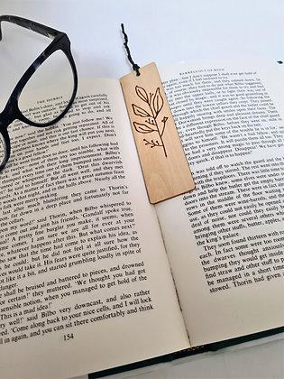 Plywood Bookmark - Olive Leaf Design