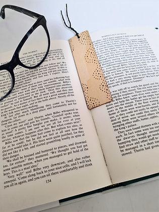 Plywood Bookmark - Dotty Waves Design