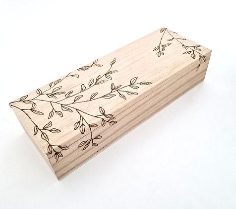 Rectangle Trinket Box - Olive Leaf Design