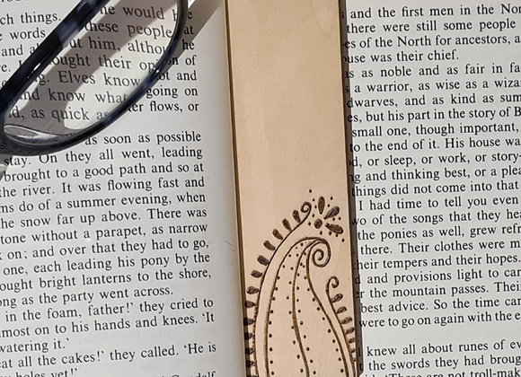 Plywood Bookmark - Whimsy Leaf Design