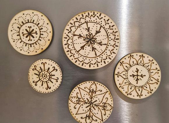 Magnet Set of 5 - Mini Mandala Collection