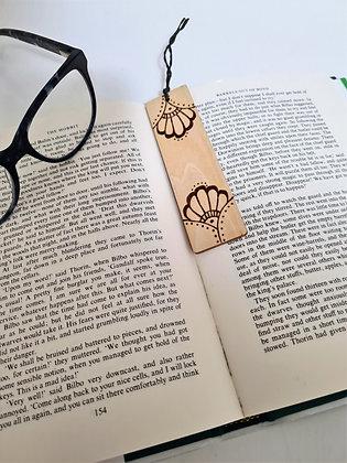 Plywood Bookmark - Mandala Flower Design