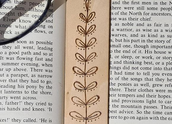 Plywood Bookmark - Dotty Plant Design