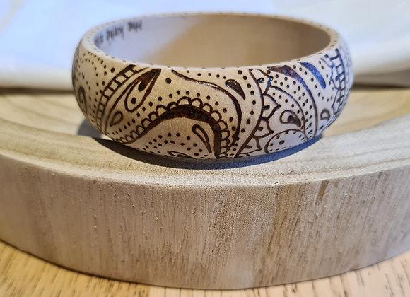 Wooden Bangle - Doodling Design