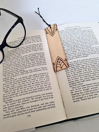 Plywood Bookmark - Dot Leaf Design