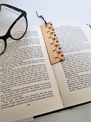Plywood Bookmark - Filigree Edge Design