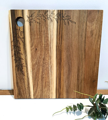 Small Square Serving Board - Olive Leaf Design