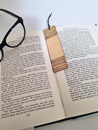 Plywood Bookmark - Tribal Band Design