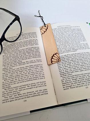 Plywood Bookmark - Bold Flower Design