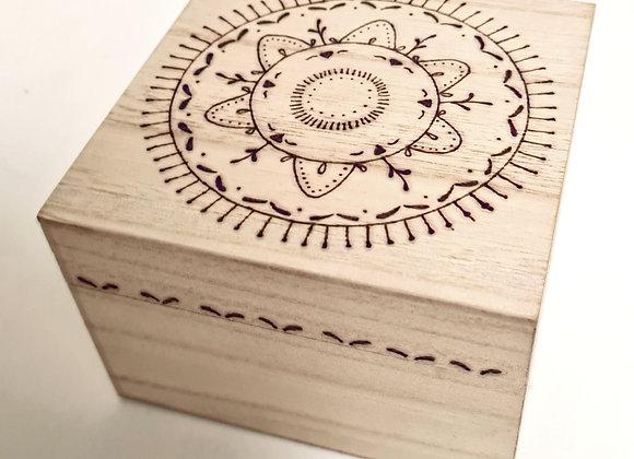 Small Trinket Box - Passionfruit Flower Design