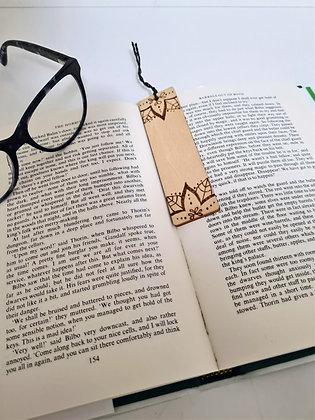 Plywood Bookmark - Flower Ends Design