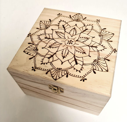 Large Trinket Box - Mandala Design