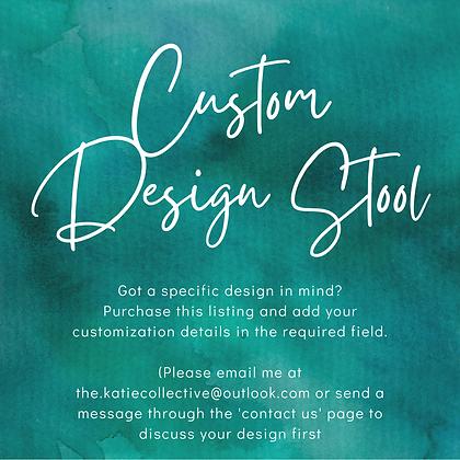 Solid Acacia Stool - Custom Design