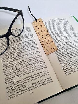 Plywood Bookmark - Dot Burst Design