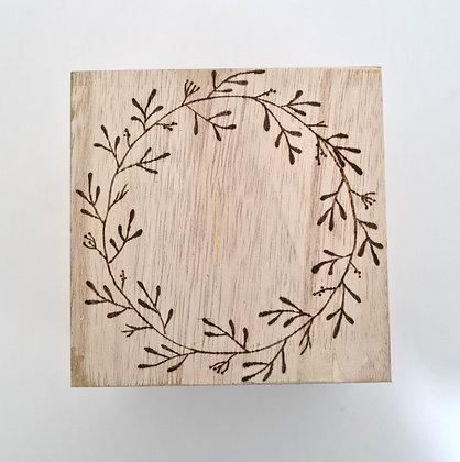 Small Trinket Box - Wreath Design