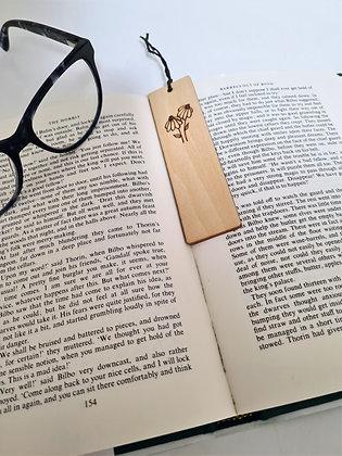 Plywood Bookmark - Dainty Daisies Design