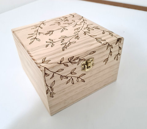 Large Trinket Box - Olive Leaf Design