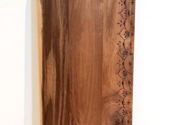 Large Rectangle Paddle Serving Board -  Moroccan Design