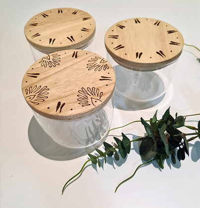 Canisters Set of 3 - Dianthus Design