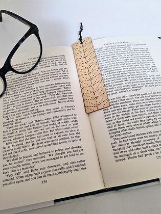 Plywood Bookmark - Dotty Tribal Design