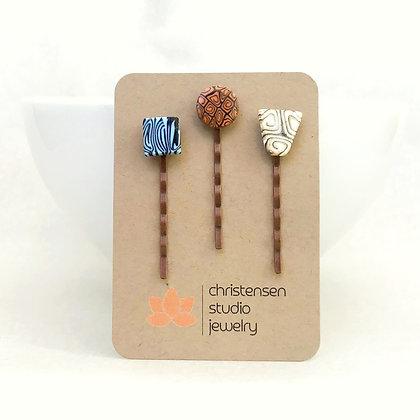 Artful Vibes Hair Pins (three)