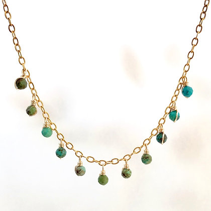 Turquoise Drop Necklace (Choker Style)