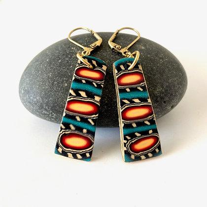 Alaska On My Mind Earrings (rectangle shape)
