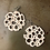 Thumbnail: Bone Colored Organic-like Holey Earrings (Large)