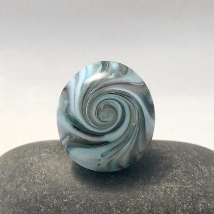 Funky Blue Swirl Ring (Adjustable)