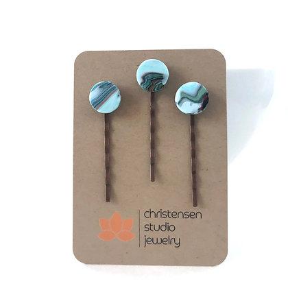 Desert Stone Hair Pins (three)