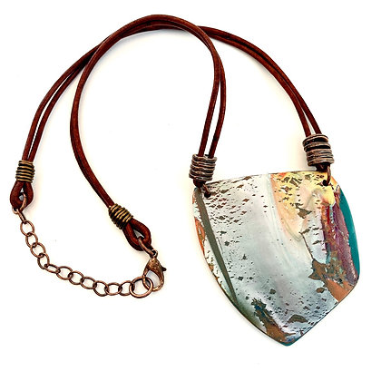 Abstract Polymer Clay Necklace