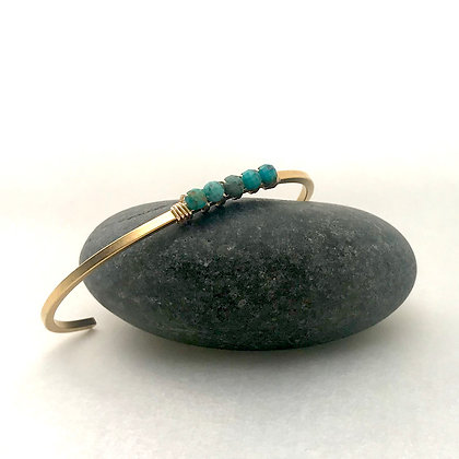 Turquoise Bead Bracelet (cuff)