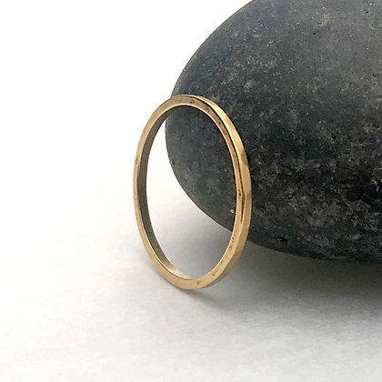 Simple Stacker Gold Ring (Size 8)
