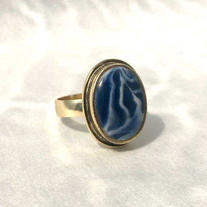 Wild Shibori Ring (Adjustable)