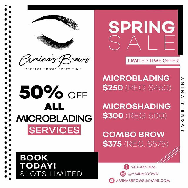 Social Media Ad for _aminas_brows _#itsl