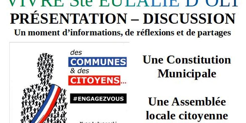 """Présentation-discussion """"Des communes et des citoyens"""""""