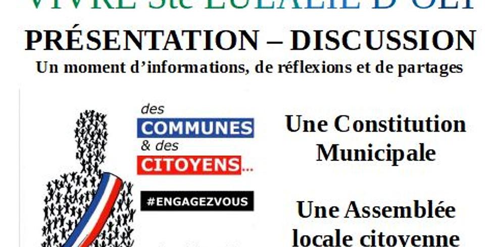 """Présentation - discussion """"Des communes et des citoyens"""""""