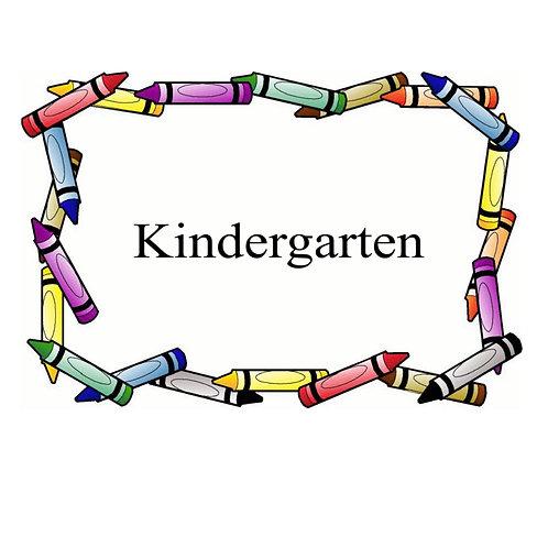Kindergarten School Supplies