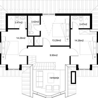 Разпределние 2 етаж